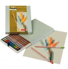 Caja madera 12 lápices pastel Bruynzel