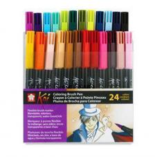 Estuche 24 Coloring Brush rotulador punta pincel
