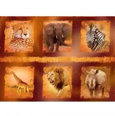 Wild Animals. Figuras pre-cortadas A4
