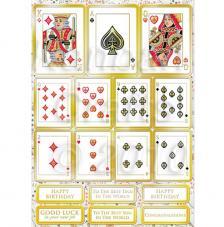 Cartas Poker. Figuras pre-cortadas A4