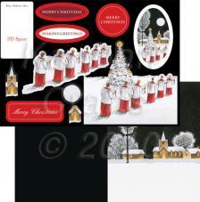 Christmas Choir. Figuras pre-cortadas A4