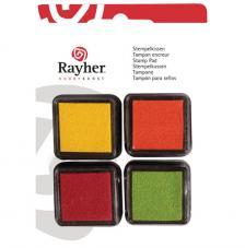 4 Mini tintas para sellos Spring