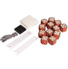 kit 12 sellos madera de letras, números, signos