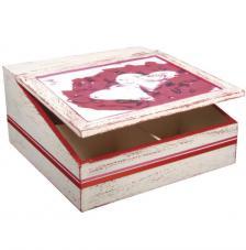 Caja 4 compartimentos 24x24x12 cm