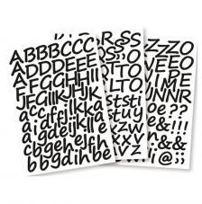 Letras adhesivas cursiva 3 cm. 3 hojas A4
