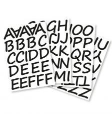 Letras adhesivas cursiva 5 cm. 4 hojas A4