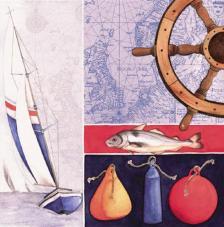 20 servilletas. Pesca