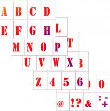 Set 5 Stencils de 13,5x20 cm. Modelo 735