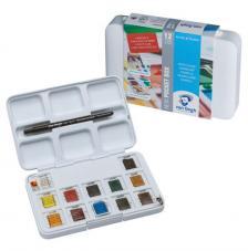 Caja plástico 12 pastillas acuarela Van Gogh