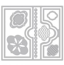 Troquel Framelit Sizzix. Tarjeta Flip-its Elegant