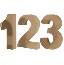Números de cartón 15 x 3 cm