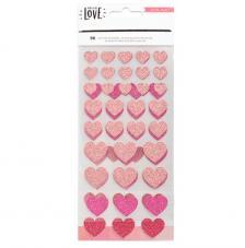 96 Stickers Hello Love. Corazones