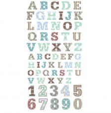 Números y Letras adhesivas Verdes