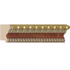 Moldura oro y rojo 4,7x3,2 cm. Ref.3583/38