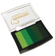 5 tintas Versacolor 4,7x7,5 cm. Verdes