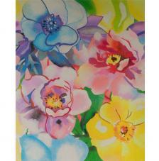 Flores de colores. 2 medidas disponibles