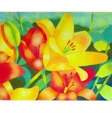 Flores Naranjas. 2 medidas disponibles