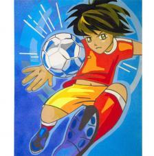 Futbol Manga. 50x61 cm