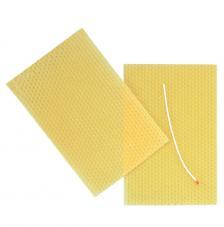 Plancha de cera virgen abeja + mecha