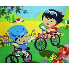 Paseo en bici. 50x61 cm