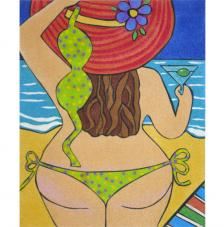 Bikini. 38x46 cm