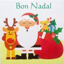 Regalos Papa Noel Bon Nadal. 30x30 cm