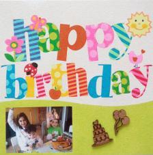 Happy Birthday. 30x30 cm