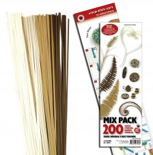 200 tiras de papel quilling 45 cm x 3 mm. Marrones