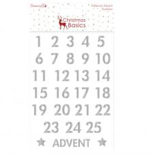 Advent Numbers Silber Christmas Basics