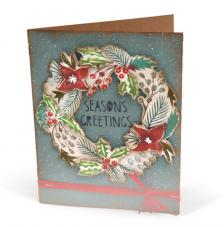 Troquel Framelit y sellos Sizzix. Season Greetings