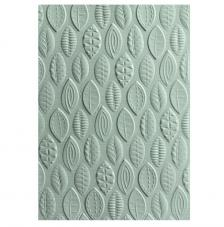 Textura embossing Sizzix. Leaves