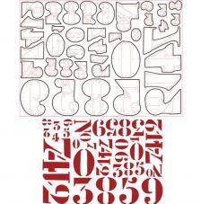 Sizzix Thinlits Set- Stencil Numbers