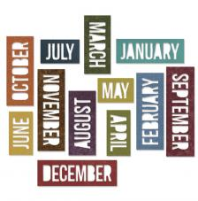 Sizzix Thinlits - Calendar Words Block
