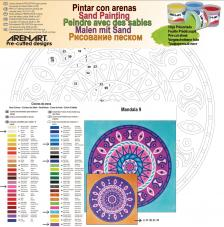 Mandala 9. 38x38 cm
