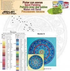 Mandala 10. 38x38 cm