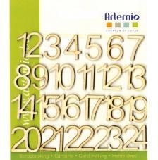 24 Números madera 2 cm