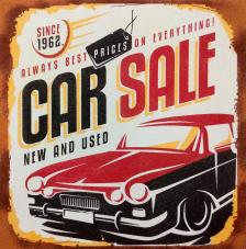 Car Sale. 2 medidas disponibles