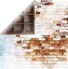 Papel doble cara 30,5 x 30,5 cm. Bricks