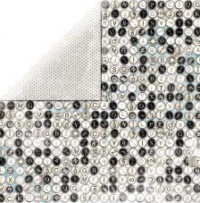Papel doble cara 30,5 x 30,5 cm. Typewriter