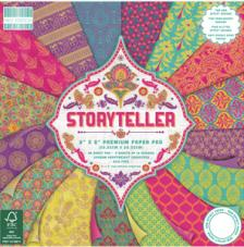 48 papeles 20,3 x 20,3 cm. Storyteller
