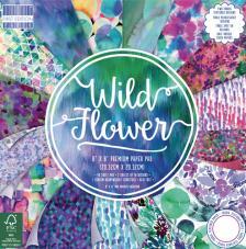 48 papeles 20,3 x 20,3  cm. Wild Flower