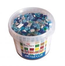 Teselas resina tonos azules 1x1cm.1300 pzas