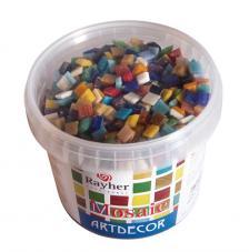 Teselas resina tonos mezclados 1x1cm.1300 pzas