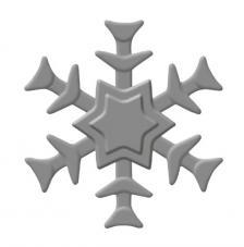 Perforadora y emboss: Copito nieve ø 3,2 cm