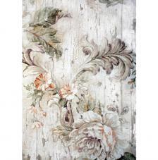 Papel Arroz Flores Grises 30x41 cm
