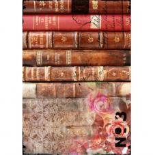 Papel Arroz Libros Antigüos 30x41 cm