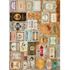 Papel Arroz Label Retro 30x41 cm