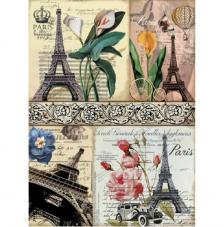 Papel Arroz Postales Eiffel 30x41 cm