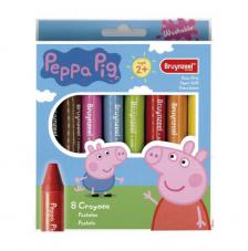 Set 8 Lápices Crayón Peppa Pig