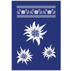 Stencil My Style Flores14,8x21 cm